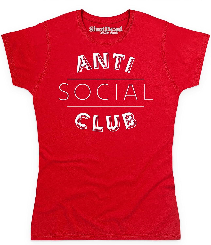 Anti Social Club Camiseta, para Mujer, Rojo, XL: Amazon.es: Ropa y accesorios