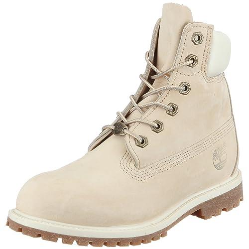 Bonne Vente Blanc Timberland 6in Prenium Boot Femme Nubuck