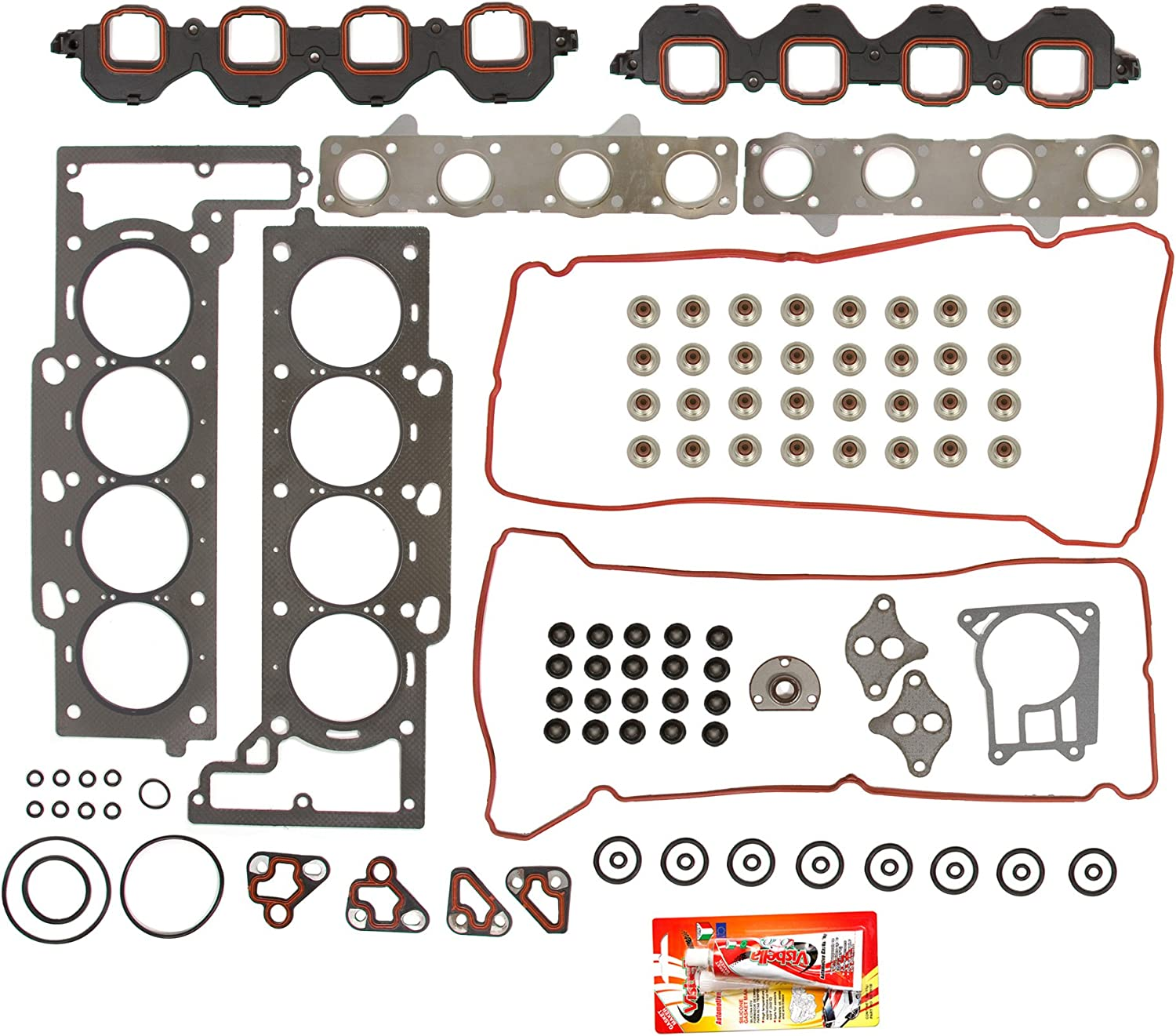 amazon com compatible with 95 99 4 6 cadillac deville el dorado seville vin code y 9 head gasket set automotive amazon com