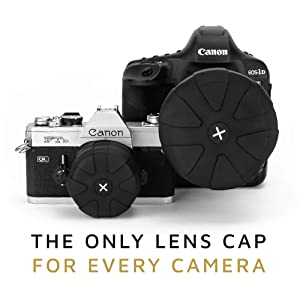KUVRD Universal Lens Cap 2.0 - Fits 99% DSLR Lenses, Element Proof, Lifetime Coverage, Micro, 2-Pack (Tamaño: 2-Pack)