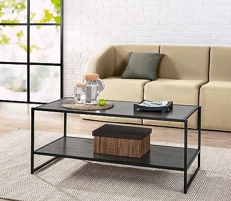 zinus troy modern studio collection deluxe rectangular coffee table espresso