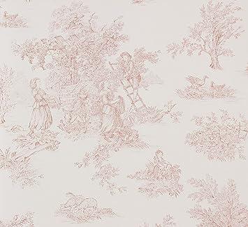 Papiertapete Weiss Beigebraun Landhaus Petite Fleur Rasch Textil