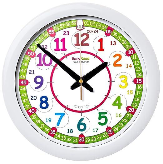 7 opinioni per Orologio da parete per bambini EasyRead Time Teacher, con indicazione 12 e 24