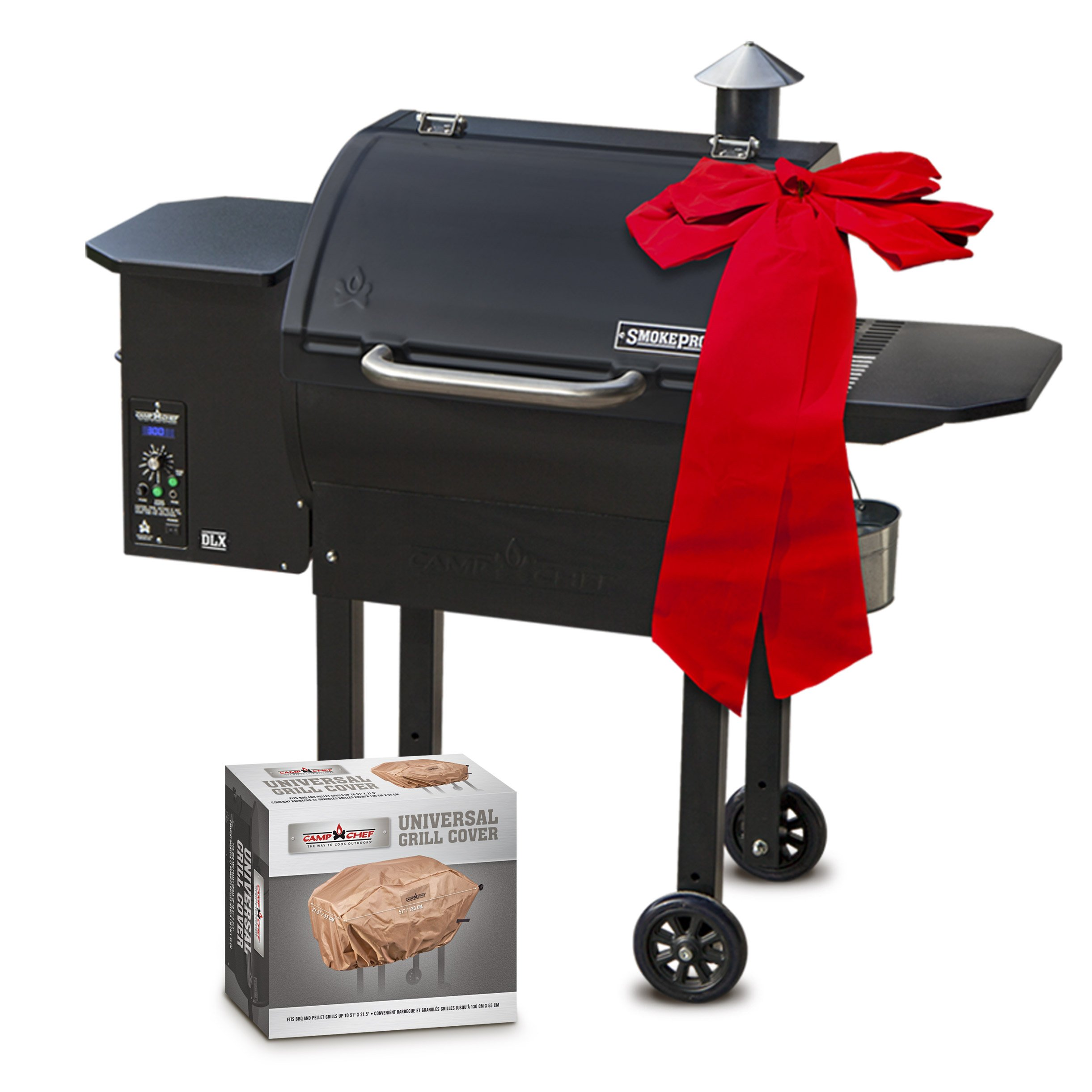 Camp Chef SmokePro DLX PG24 Pellet Grill With Patio Cover - Holiday Bundle by Camp Chef