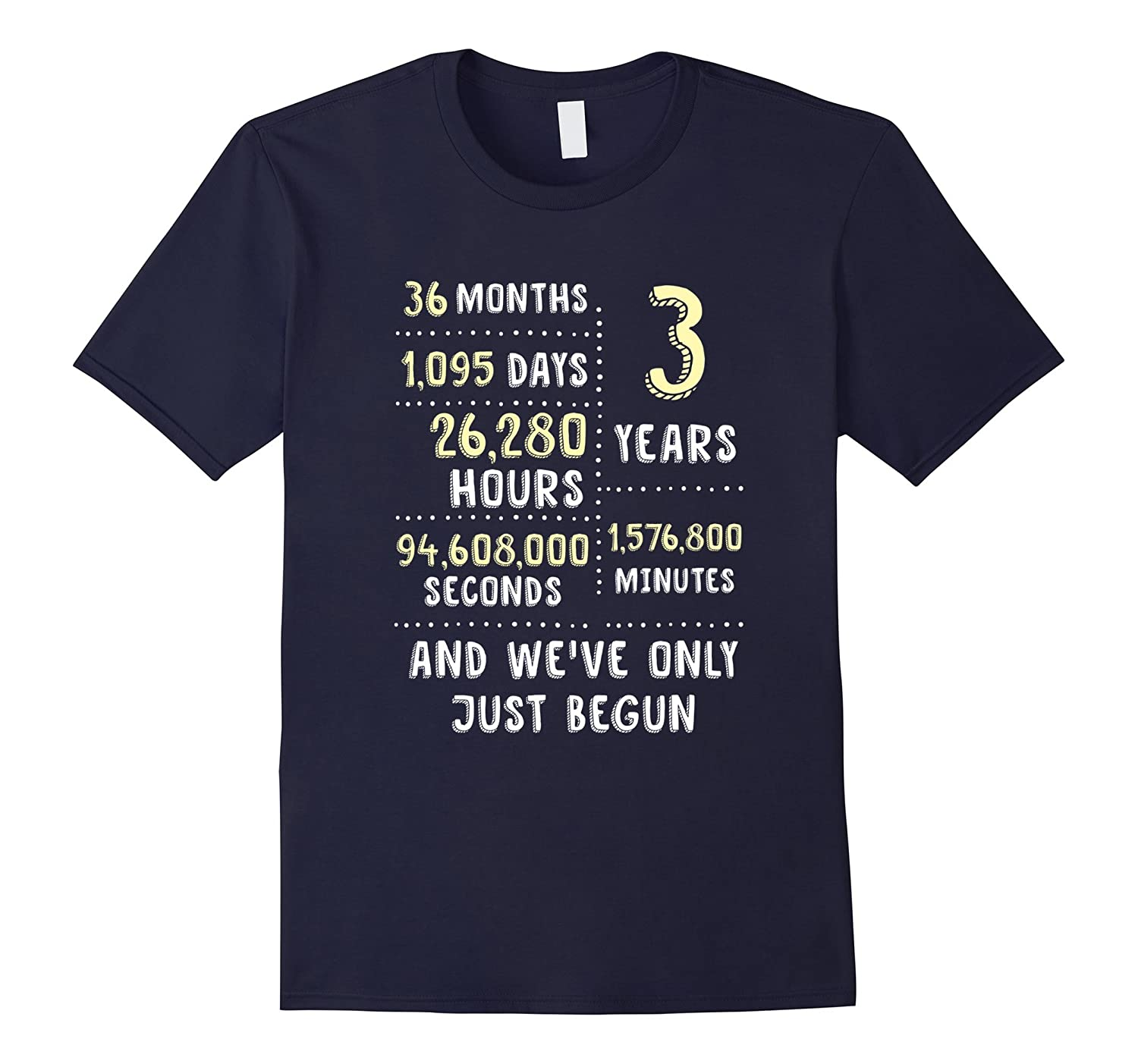 3 Year Anniversary T-Shirt / Cute Gift for Her or Him-FL
