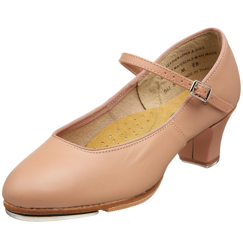 Capezio Women's Tap Jr. Footlight Tap Shoe B002CO3QSU 4.5 W US Suntan