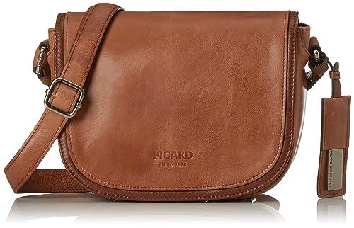 4ae42482d9 Picard 82141S3, Borsa a tracolla Donna, Marrone (Marrone (Cognac 210)),  7x16x21 cm (B x H x T): Amazon.it: Scarpe e borse
