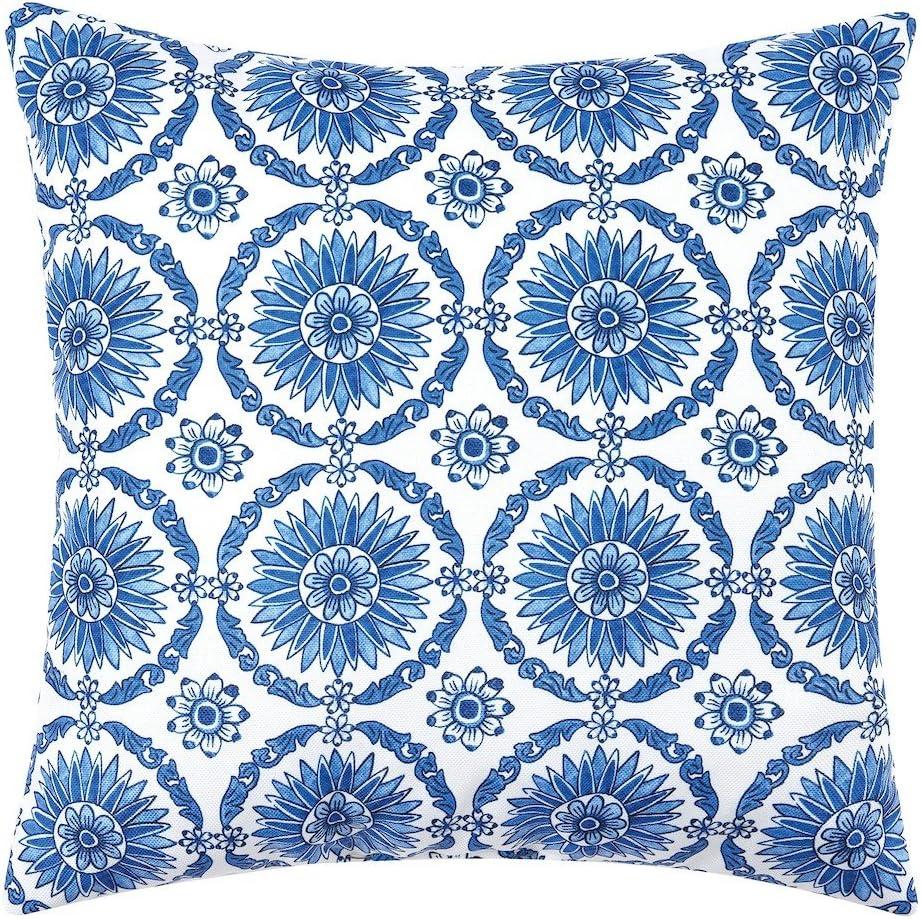 C&F Home Delft Garden 1 HD Indoor/Outdoor Pillow 18 x 18 Blue Delft Garden 1