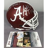 $160 » AJ McCarron SIGNED Alabama Crimson Tide Football Mini Helmet w/JSA COA - Autographed NFL Mini Helmets