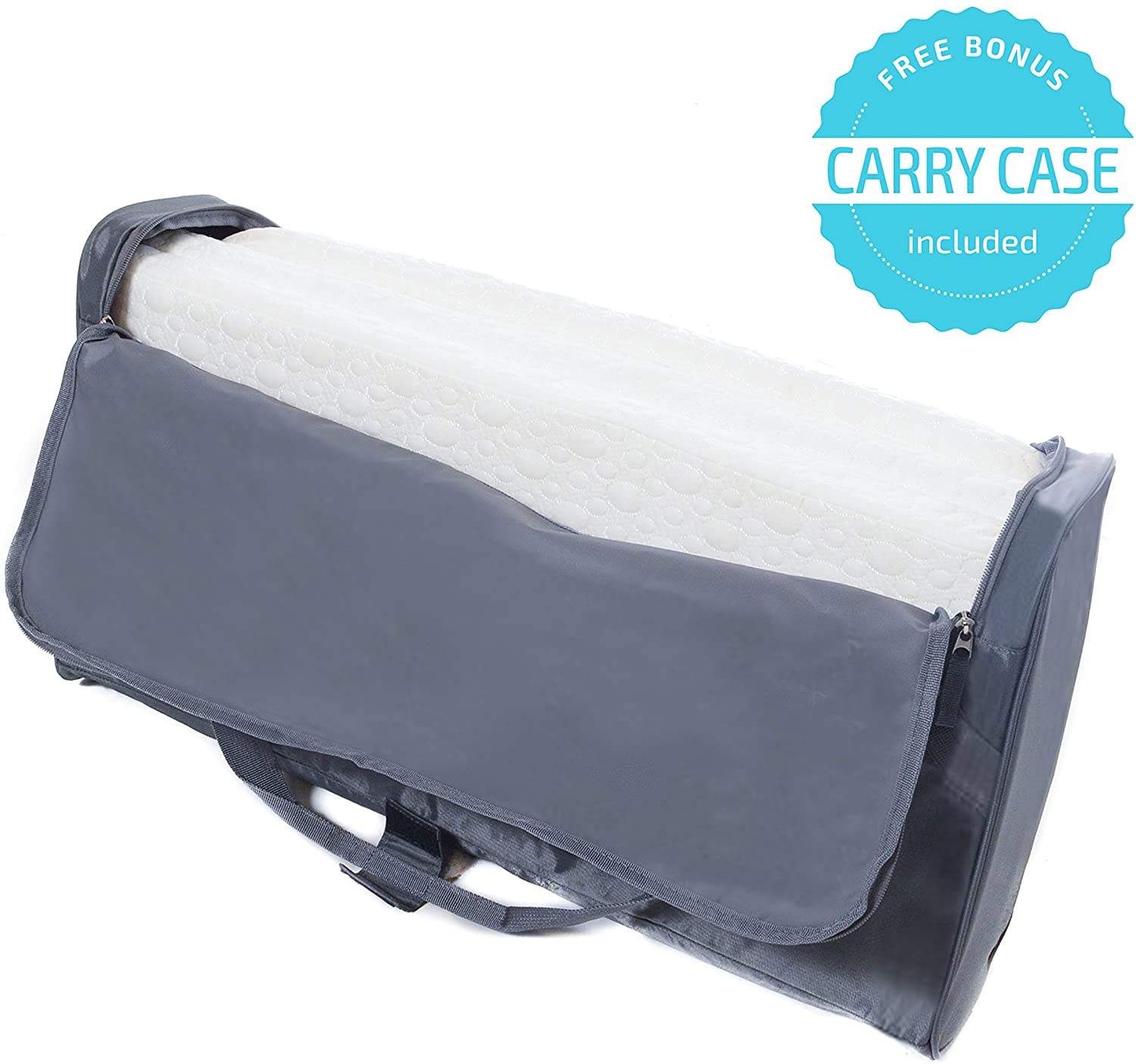 Conveniently Folds Into Bonus Carry Bag Milliard Pack and Play Mattress