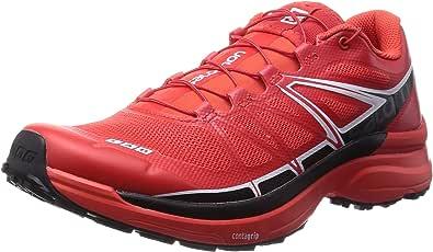 Salomon S-Lab Wings - Zapatillas de trail running Mujer, Rojo (Racing Red / Black / White), 48 EU: Amazon.es: Zapatos y complementos
