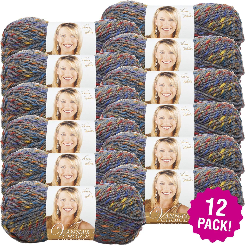 Lion Brand 97421 Vanna's Choice Yarn-12/Pk, Patchwork Gray 12 Pack