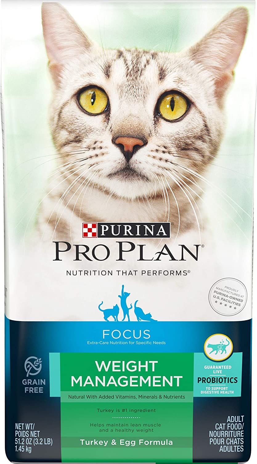 Purina Pro Plan Weight Management, High Protein Adult Dry Cat Food & Wet Cat Food (Packaging May Vary)