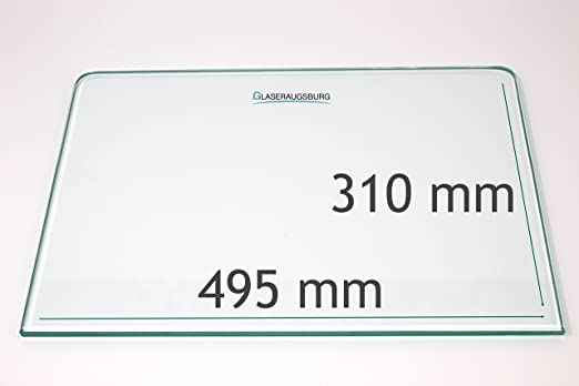 K/ühlschrank Einlegeboden//Glasplatte//Gem/üsefach Klarglas 4 mm dick 475 mm x 315 mm Direkt vom Glasereifachbetrieb!!!