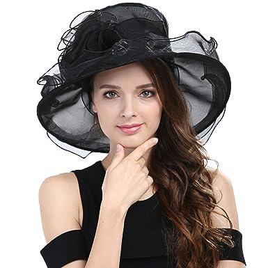 8e52fae0d33 Janey Rubbins Women s Kentucky Derby Hats Church Organza Dress Caps ...