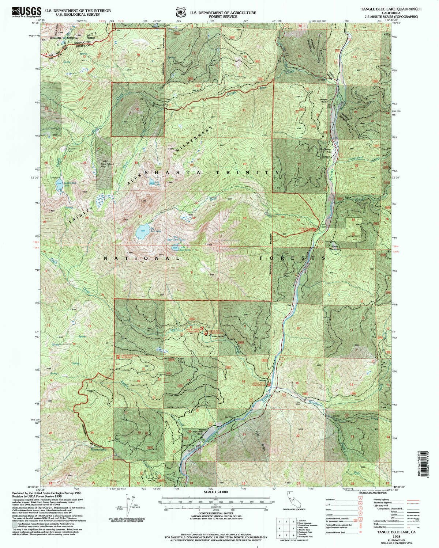 Amazon Com Yellowmaps Tangle Blue Lake Ca Topo Map 1 24000 Scale