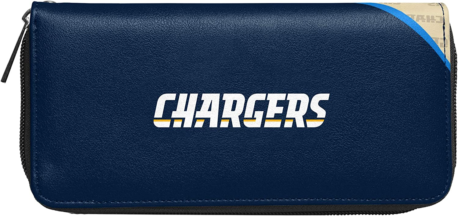 Littlearth NFL Los Angeles Chargers Wallet Curve Organizer Style One Size Team Colors