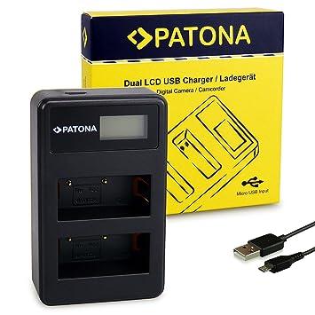 PATONA Cargador de batería Doble LCD USB para NP-W126 ...