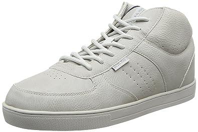 JACK & JONES JFWDUNC PU Mid Sneaker, Herren Hohe Sneakers, Grau (Vapor Blue), 44 EU