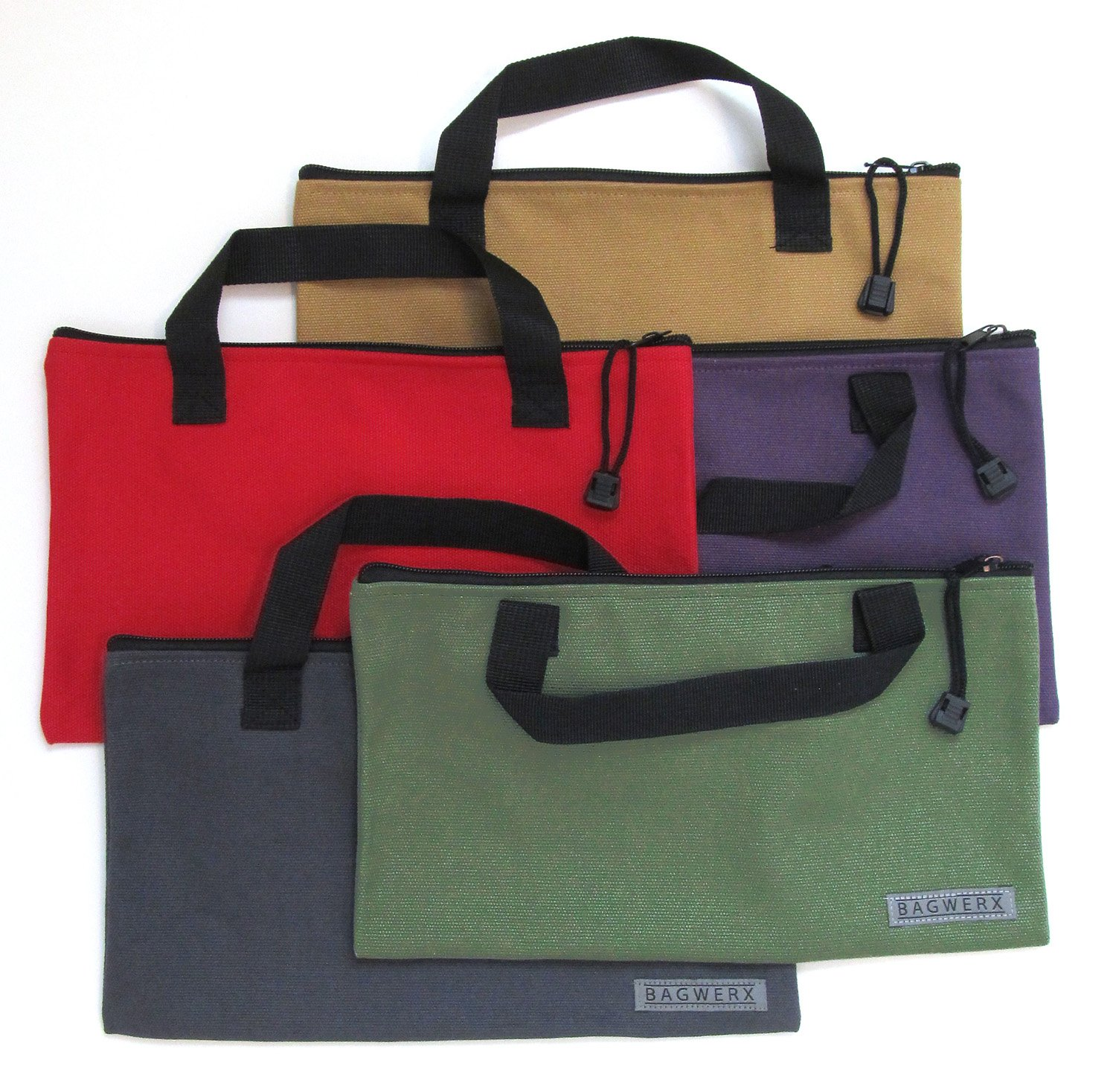 Canvas Tool Bags with Handles - 5 Pack - Heavy Duty 20 Oz. Canvas Multi Purpose Bag - Tool Organizer by Bagwerx