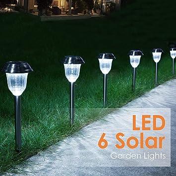 Amazon.com : Aglaia Solar Lights Outdoor, Solar Garden Lights, Solar Path  Lights, Stainless Steel Waterproof LED Outdoor Lights, Security Landscape  Lighting ...
