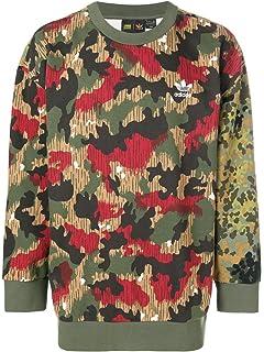 e948e6c94aee adidas Originals Men s Pharrell Williams Oversize hu Hiking Camouflage Crew  Sweatshirt Sweat