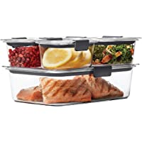 Rubbermaid Brilliance Food Storage Containers, Assorted, Clear