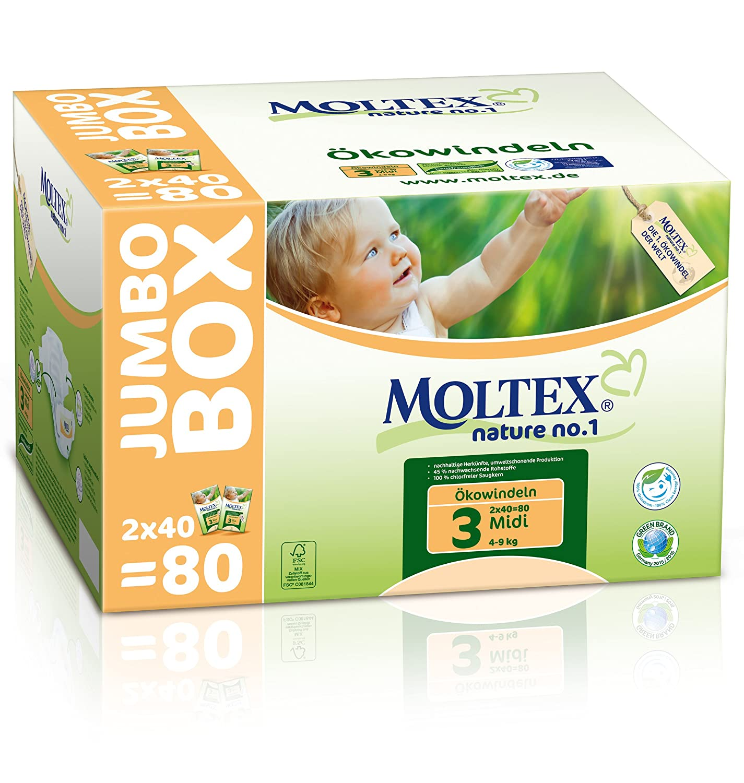 MOLTEX Nature no.1 Ö kowindel Midi Jumbo, 80 Stü ck 153552JP