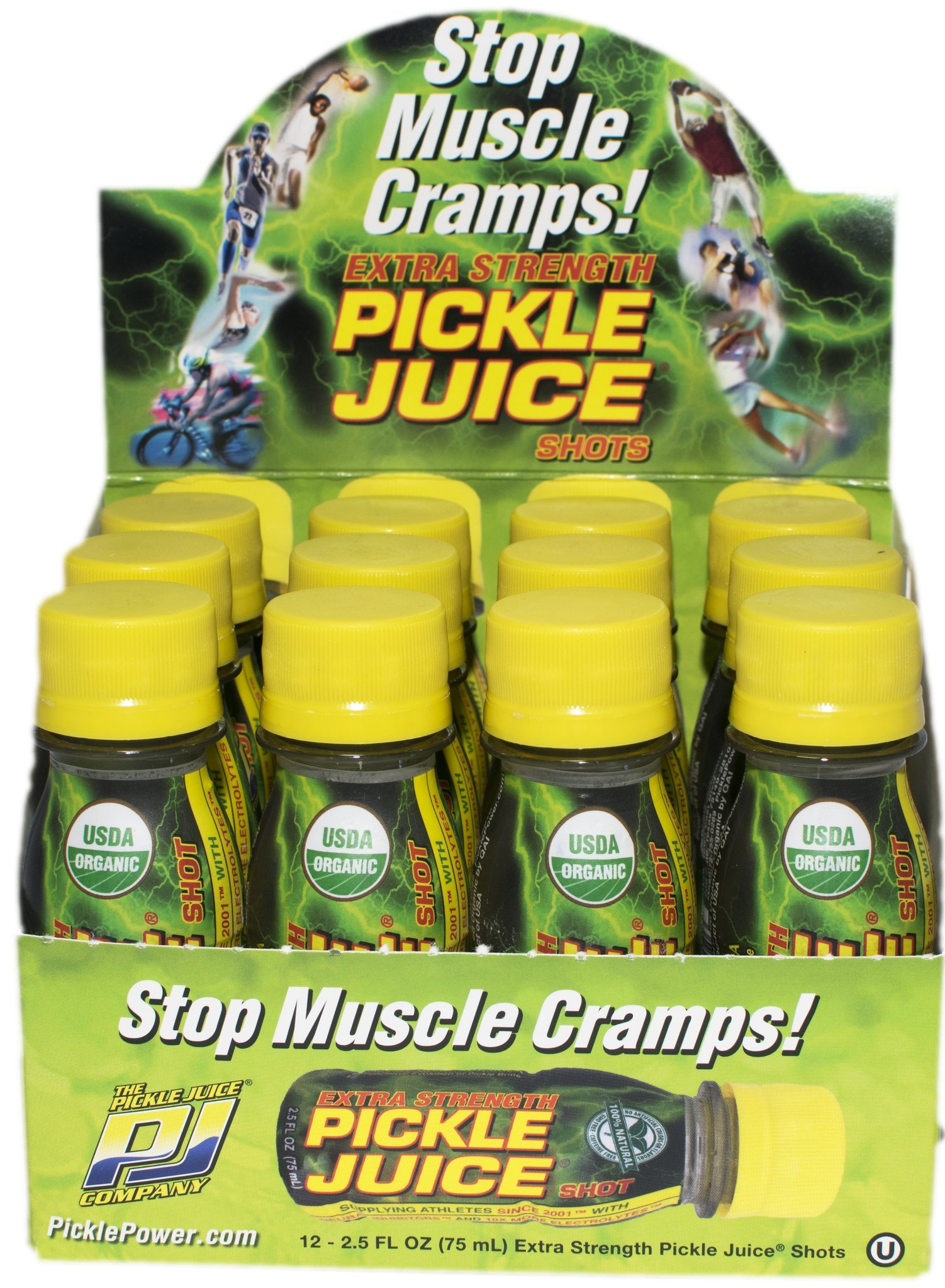 Pickle Juice Extra Strength Shots, 2.5 oz, 12 pack by Pickle Juice