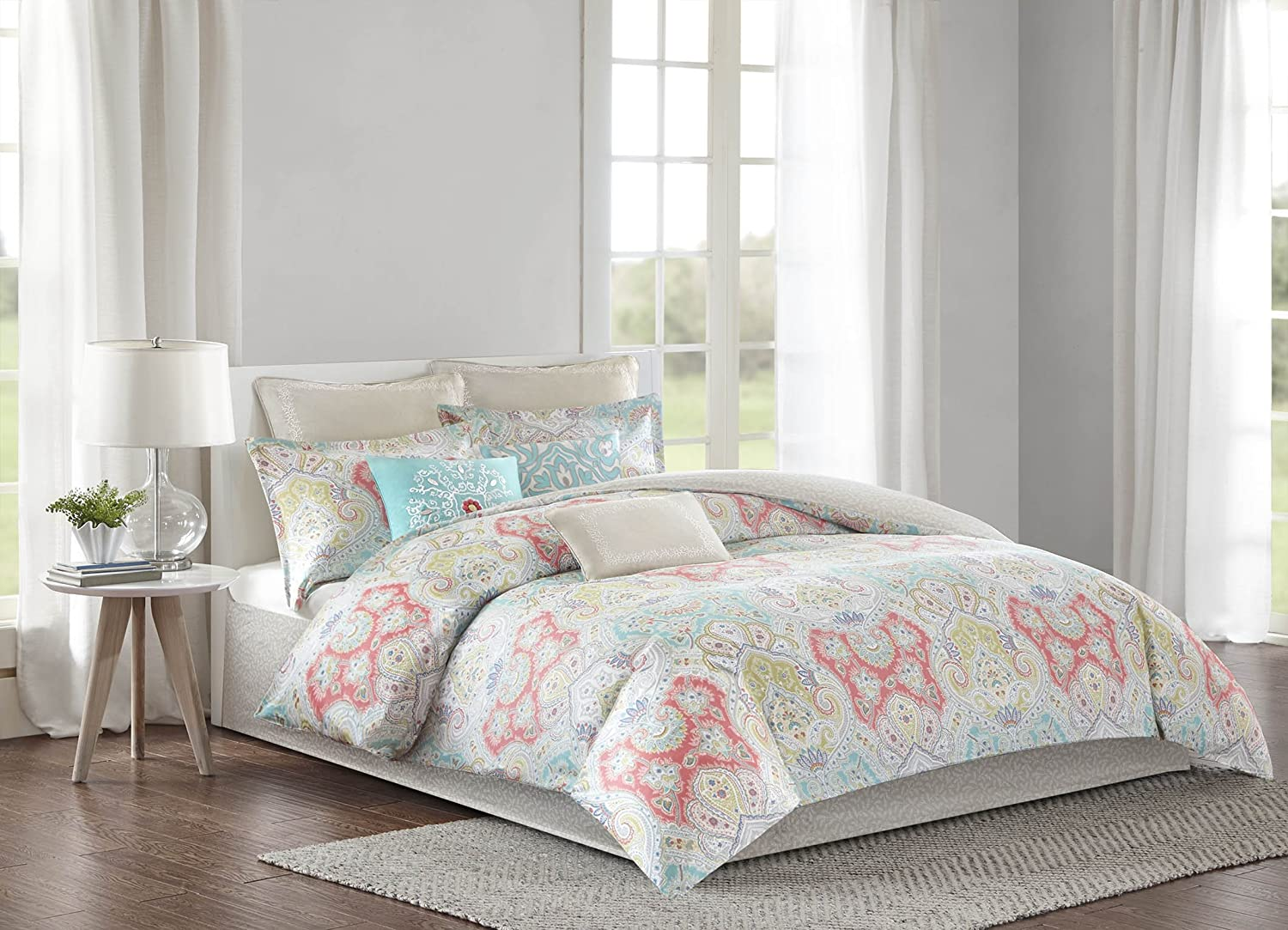 Amazoncom Echo Design Cyprus Mini Duvet Cover Set Fullqueen