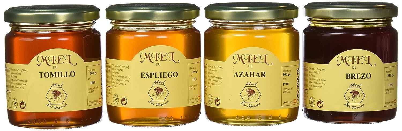 Miel Las Obreras pack 4 variedades 300 g - Total: 1200 g: Amazon.es: Alimentación y bebidas