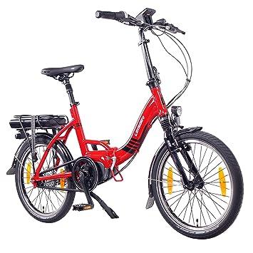 "Bicicleta Plegable Eléctrica, Leisger F4 20"" , 36V 11Ah Celdas Panasonic, Rojo brillante"