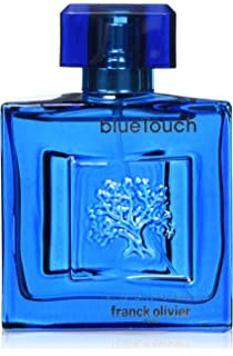Franck Olivier Eau de Toilette Spray for Men, Blue Touch, 3.4 Ounce