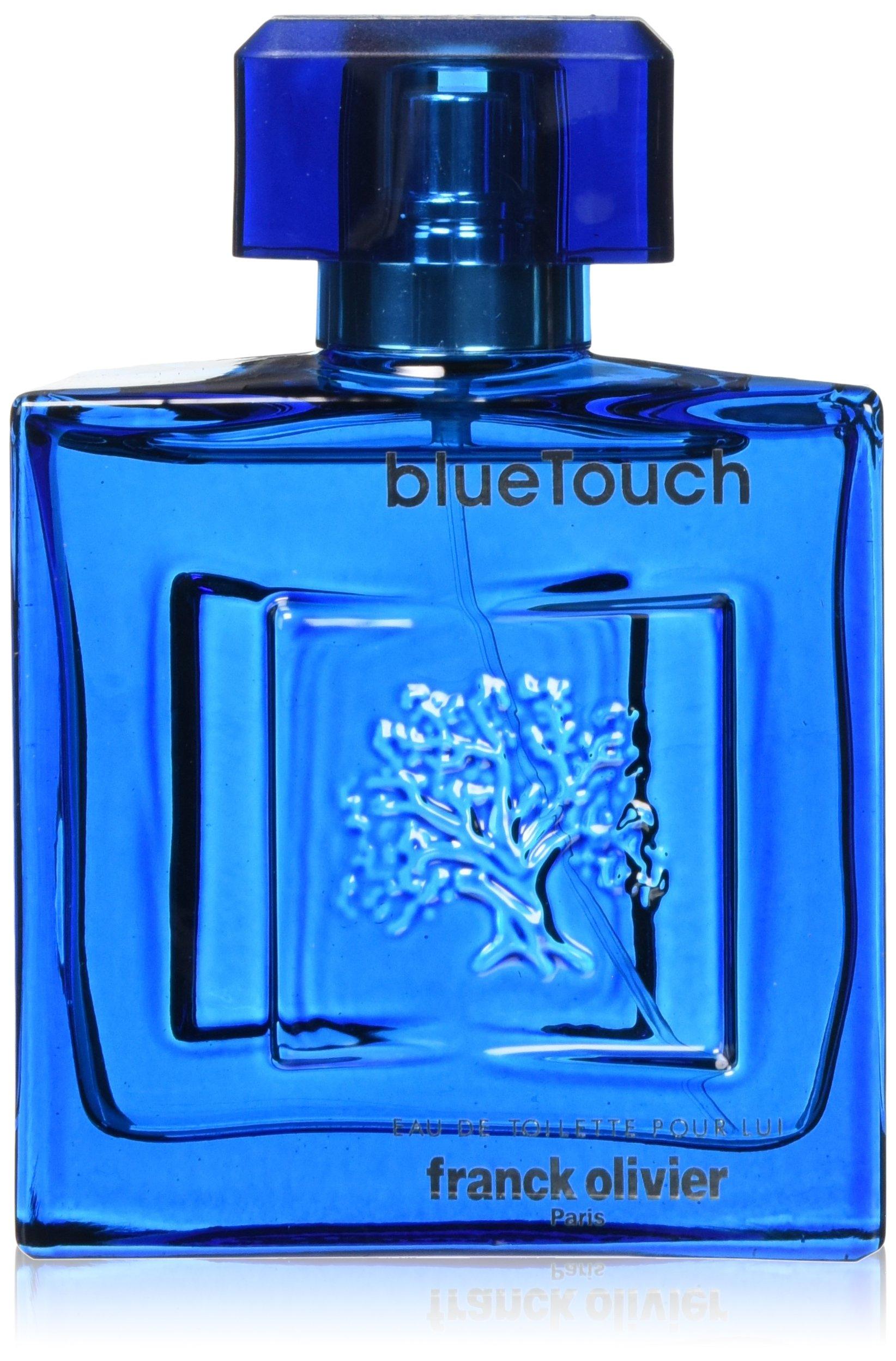 Franck Olivier Eau de Toilette Spray for Men, Blue Touch, 3.4 Ounce