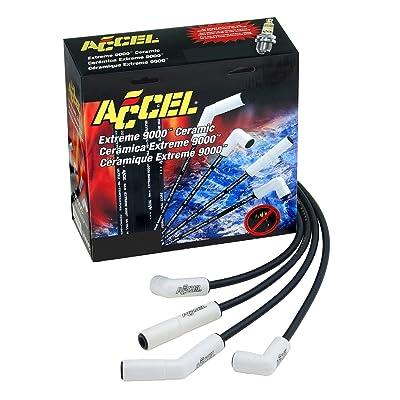 Accel Spark Plug Wire Set, X9000 Ls Ceramic 180 11In: Automotive