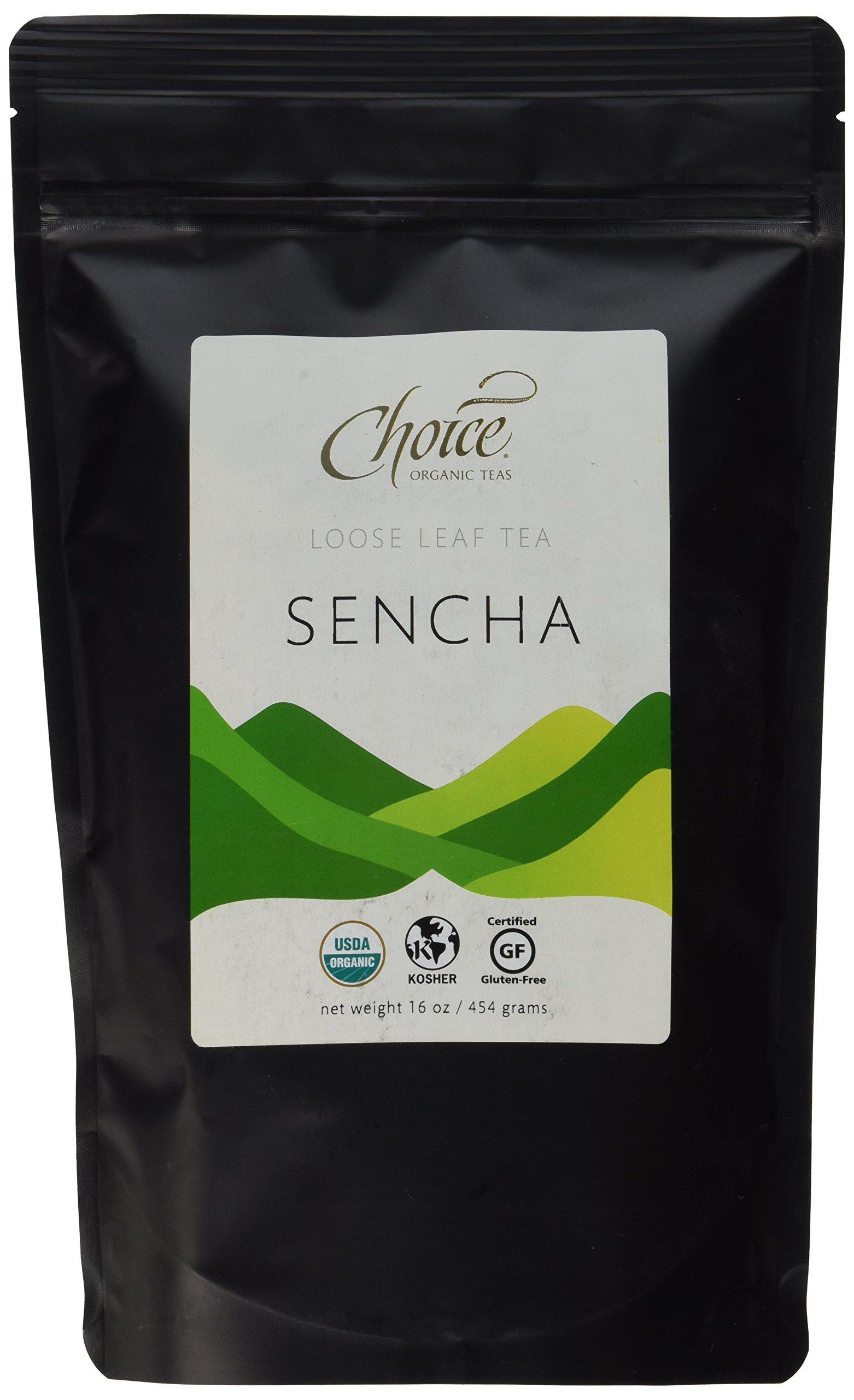 Choice Organic Teas Green Tea, Loose Leaf (1 Pound Bag), Sencha