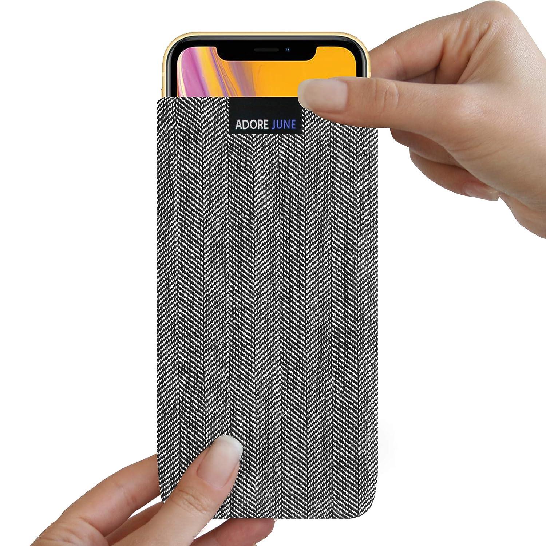 /Gris//Negro Efecto de protecci/ón Funda Accesorios de Limpieza con Pantalla /Funda para Apple iPhone XR Funda de charakteristischem Espina de pez pl/ástico/ Adore June Business/ Fabricado en Europa.