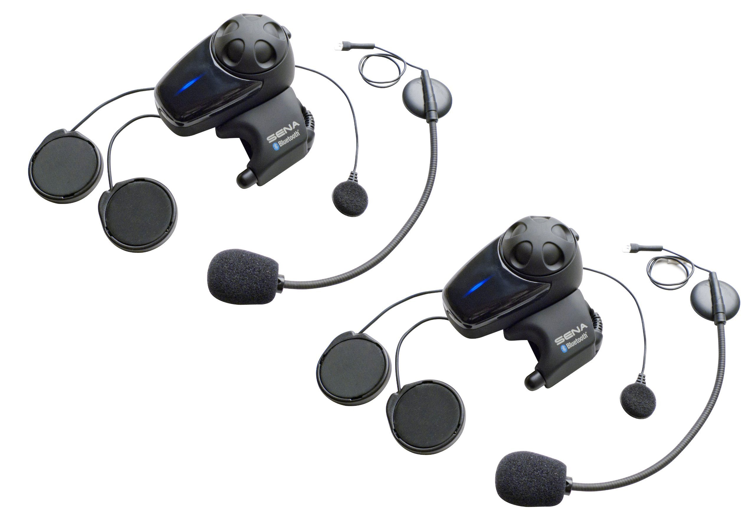 22ee4c8d20d Sena SMH10D-11 Motorcycle Bluetooth Headset/Intercom with Universal  Microphone Kit (Pack of 2)