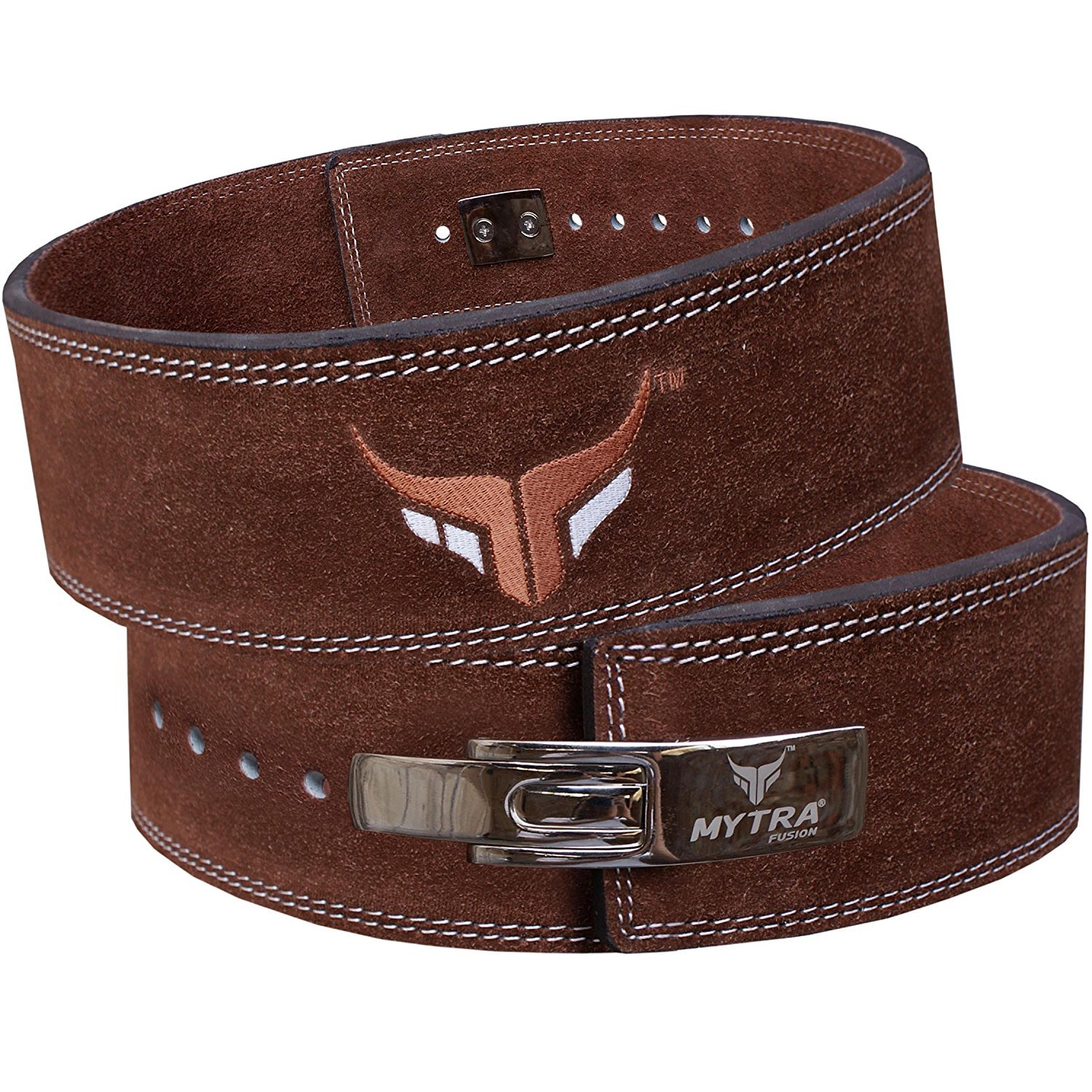 Mytra Fusion Leather courted Power Lifting Back Support Belt Weight Lifting Belt Men Weight Lifting Belt Women Weight Lifting Belt Weight Lifting Belt Lever Weight Lifting Belt Powerlifting Belt.