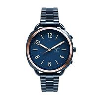 Fossil Hybrid Q Accomplice Damen Smartwatch - Edelstahl - Blau – Multifunktionsuhr analog im Vintage-Look mit Smartfunktionen – Für Android & iOS