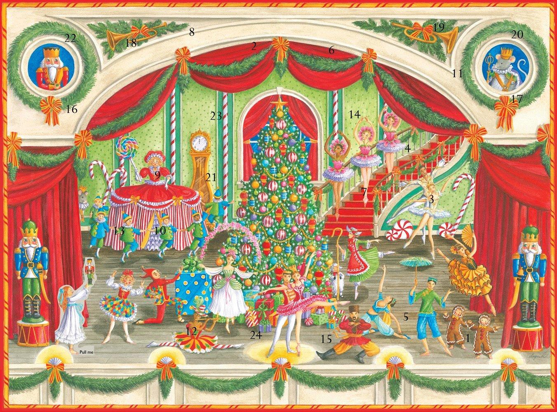 Caspari Advent Calendar with 3D Relief, Christmas Ballet ADV251