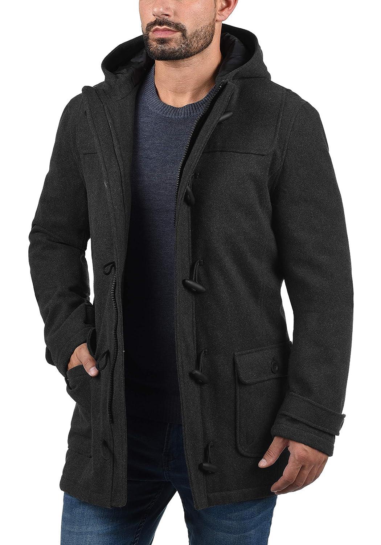 Solid Wummer Manteau De Laine Veste Longue DHiver Duffel-Coat Pour Homme /À Capuche