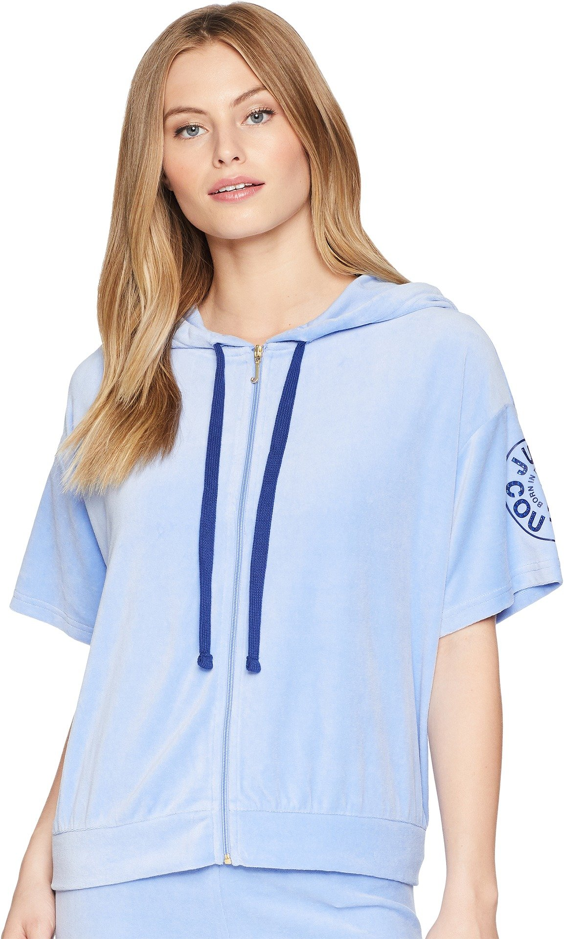 Juicy Couture Women's Batwing Track Jacket w/Circle Star Logo Hydrangea Medium