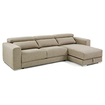Sofá Chaise Longue Atlanta, Beige: Amazon.es: Hogar