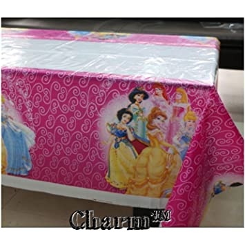 Amazoncom Disney Princess Set of 2 Tablecloths Plastic 42 X 70