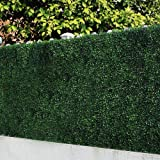 ULAND   6 Piece Artificial Boxwood Hedges, Privacy Fence Screen for Outdoor, Wall Home Decoration