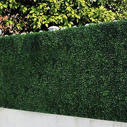 amazon com uland 6 piece artificial boxwood hedges privacy fence