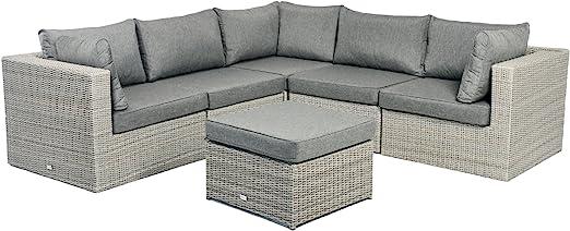 Jardín muebles jardín sofá Lounge de esquina illias Polirratán: Amazon.es: Jardín