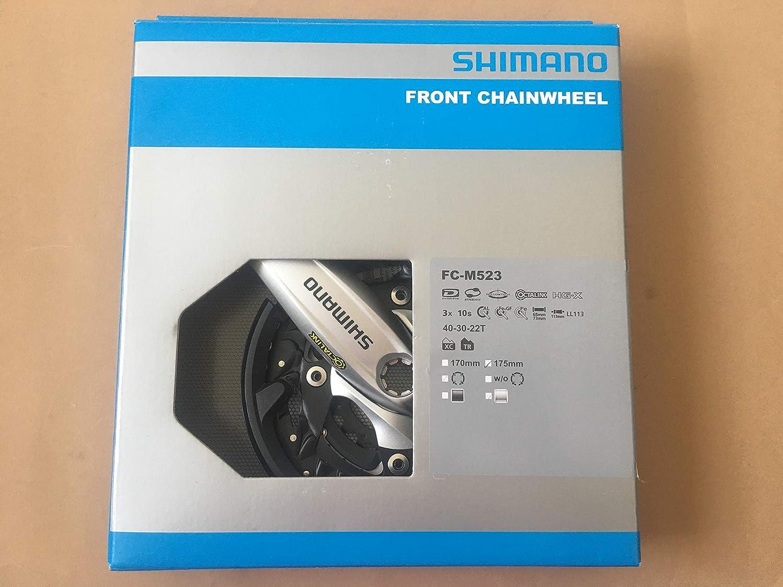 Shimano Deore FC-M523 Manivelle en aluminium 3 x 10-f octalink 175 mm 40//30//22 Z Argent/é