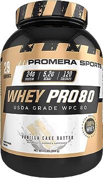 ProMera Sports Suero Pro80 ¢ Vanilla Cake Batter,el USDA ...